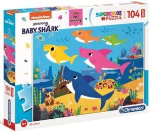 Clementoni puzzle 104 dílků MAXI - Baby Shark 23751