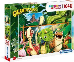 Clementoni puzzle 104 dílků MAXI - Gigantosaurus  23747