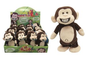 Giochi  Preziosi : plyšová mluvící - opakující opička  22 cm
