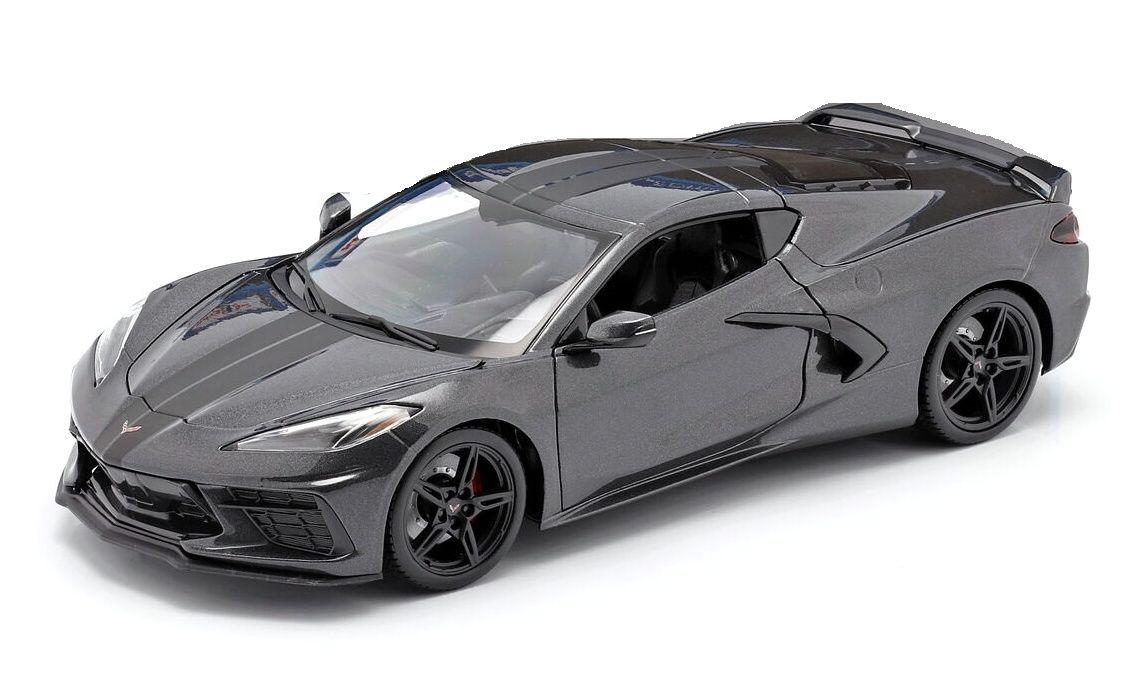 Maisto 1:18 Chevrolet Corvette Stingray Coupe 2020 - šedá barva