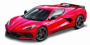 Maisto 1:18    Chevrolet Corvette  Stingray Coupe  2020  - červená barva