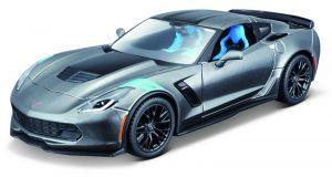 Maisto  1:24 Kit  Corvette Grand Sport  20017   - model  ke skládání  - šedá  barva