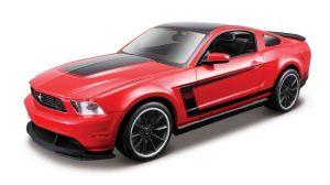 Maisto  1:24 Kit  Ford Mustang Boss 302  - model  ke skládání  - červená  barva