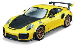 Maisto  1:24 Kit  Porsche 911 GT2 RS  - model  ke skládání  - žlutá   barva