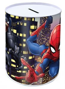 Pokladnička plechovka  10 x 15 cm  -  Spiderman B