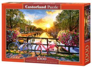 Puzzle Castorland  1000 dílků - Kola v Amsterodamu 104536