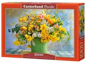 Puzzle Castorland  1000 dílků - Kytice v zelené váze  104567