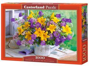 Puzzle Castorland  1000 dílků - Kytice z lilií a zvonků 104642