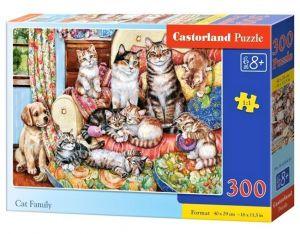 Puzzle Castorland 300 dílků - Kočičí rodina 030439