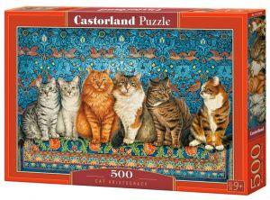 Puzzle Castorland 500 dílků - Kočky aristokratky  53469