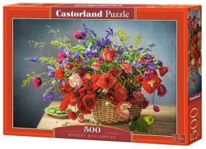 Puzzle Castorland 500 dílků - Kytice s máky 53506