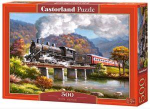 Puzzle Castorland 500 dílků - Parní vlak 53452