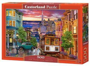 Puzzle Castorland 500 dílků - San Francisco - tramvaj   53391