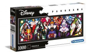 Puzzle Clementoni 1000 dílků  panorama -  Disney - Ničemové 39516