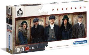 Puzzle Clementoni 1000 dílků  panorama - Netflix Peaky Blinders - Gangy z Birminghamu  39567