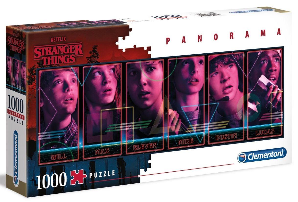 Puzzle Clementoni 1000 dílků panorama - Netflix - Stranger Things 39548