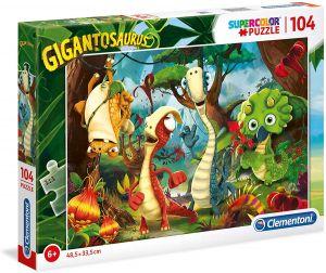 Puzzle Clementoni  - 104 dílků  -  Gigantosaurus  27192