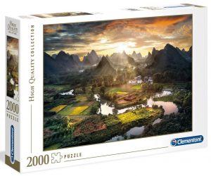Puzzle Clementoni 2000 dílků - Pohled na Čínu  32564