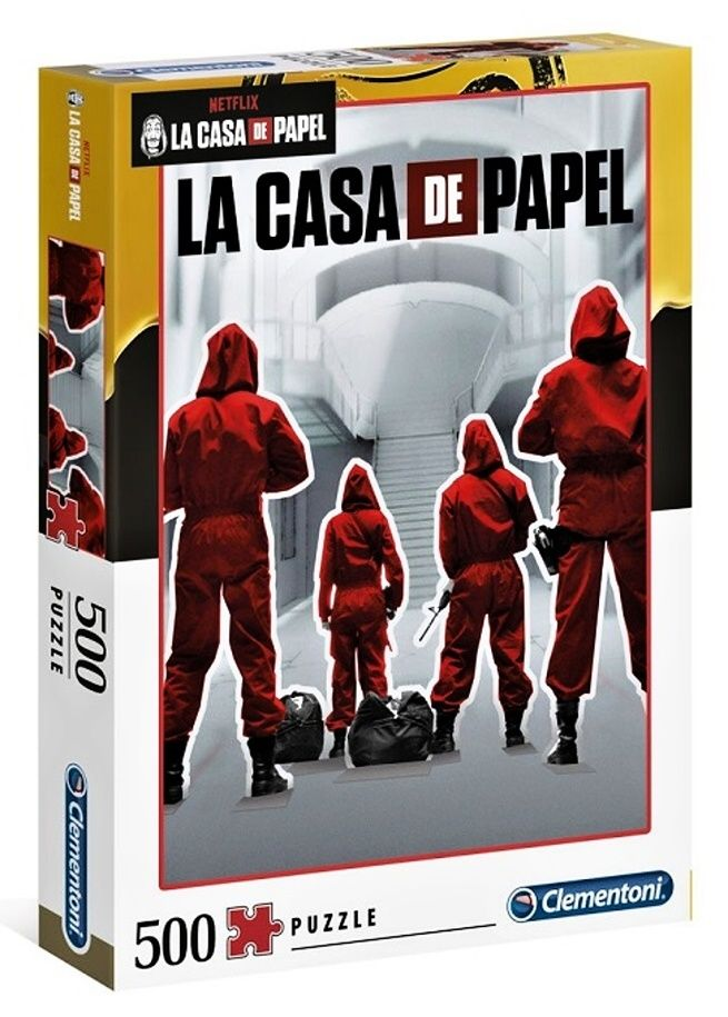 Puzzle Clementoni 500 dílků - Netflix - Papírový dům 35084