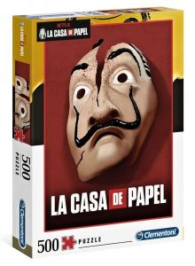 Puzzle Clementoni 500 dílků  - Netflix - Papírový dům 35085