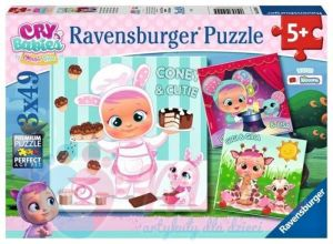 Puzzle Ravensburger  3 x 49 dílků  - Cry Babies Magic Tears 051045