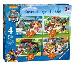Puzzle Ravensburger  4v1 12, 16, 20 a 24  dílků  Psí tlapková patrola  069361