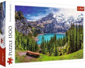Puzzle Trefl 1500 dílků - Jezero Oeschinen - Alpy  26166