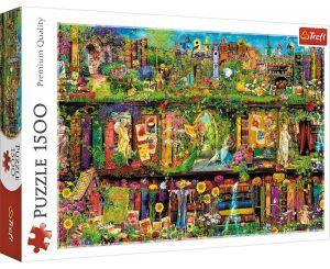 Puzzle Trefl 1500 dílků - Umělcova knihovna   26165