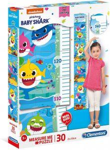 Růstový metr - ( puzzle ) Clementoni  30 dílků - Baby Shark   20340