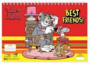 Set omalovánek + nálepek + skicák  -  Tom & Jerry