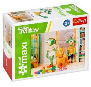 TREFL 20 dílků mini-MAXI -  Rodina Treflíků 21065