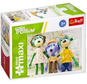 TREFL 20 dílků mini-MAXI -  Rodina Treflíků 21067
