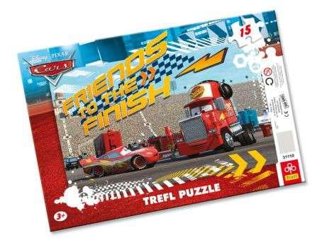 15 dílků CARS - puzzle v rámečku ( rámkové ) puzzle Trefl 31110