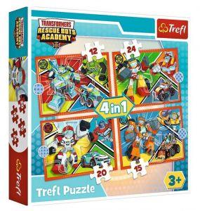 12 , 15 , 20 a 24  dílků -  4v1  Transformers  -  puzzle   Trefl 34352