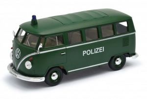 Auto Welly 1:24   Volkswagen T1  1963   zelená barva -  Polizei