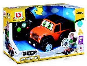 Bburago - RC  auto Jeep Wrangler   na dálkové ovládání  - oranžový