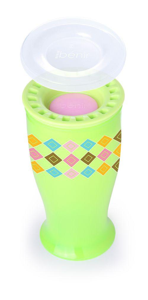 Benir - netekoucí hrneček / lahvička 360° 250 ml - zelená barva
