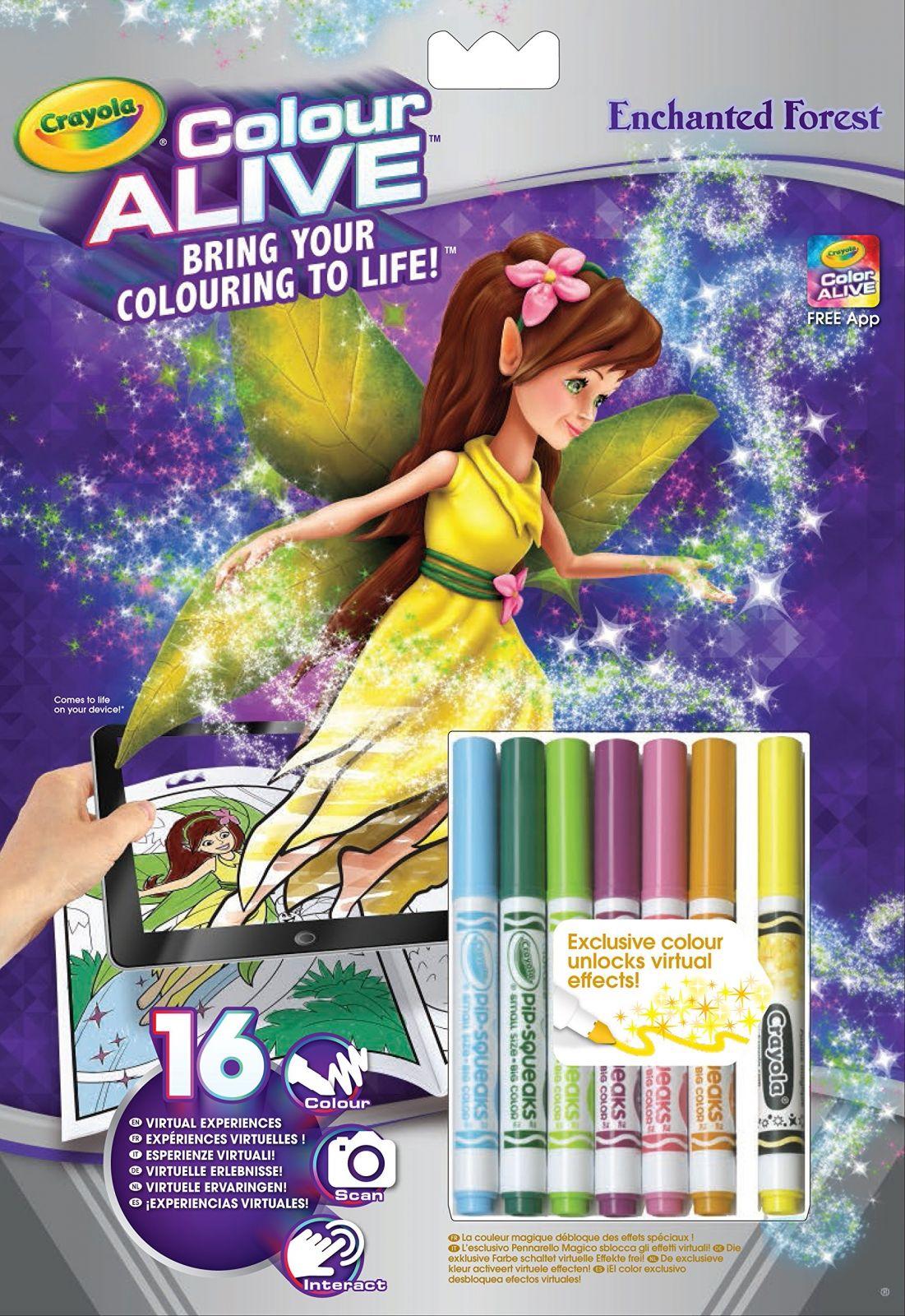 Crayola - colour active - omalovánky + fixy - Kouzelné víly - začarovaný les Russell Company