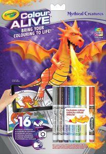 Crayola - colour active - omalovánky + fixy - Mýtická stvoření