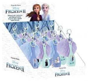 Diakakis - kartáč na vlásky s přívěškem - plyšovou bambulkou - Frozen - Anna