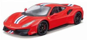 Maisto  1:24 Kit FERRARI  - Ferrari  488 Pista - model  ke skládání  - červená  barva