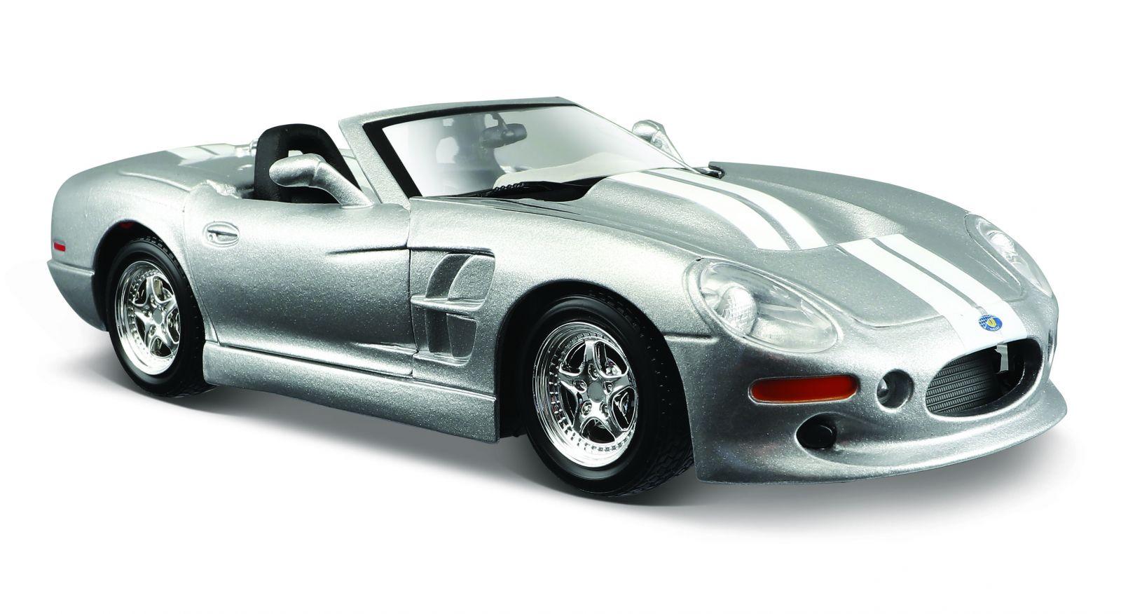 Maisto 1:24 Shelby Series One 1999 31277 - stříbrná barva