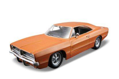 Maisto 1:25 Kit 1969 Dodge Charger - model ke skládání - oranžová barva