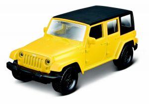 Maisto 21001 PR  Jeep Wrangler Unlimited 2015 - žlutá  barva