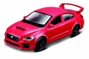 Maisto 21001 PR  Subaru  WRX STI 2017 - červená  barva