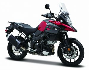 Maisto motorka 1:12 Suzuki V-Storm  červeno černá