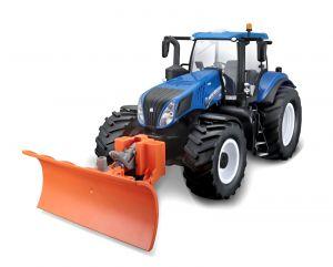 Maisto - RC Farm Tractor 1:16 New Holland  s radlicí  -  modrý