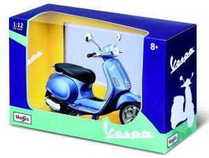 Maisto skůtr Vespa Primavera 150 ( 2014 ) modrá 1:12 Miasto