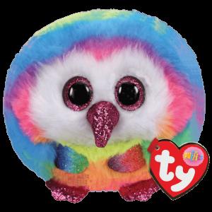Plyšák TY - Puffies - plyšová zvířátka ve tvaru kuličky   - sova Oven  10 cm  42504