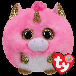 Plyšák TY - Puffies - plyšová zvířátka ve tvaru kuličky  - jednorožec Fantazia   10 cm  42508